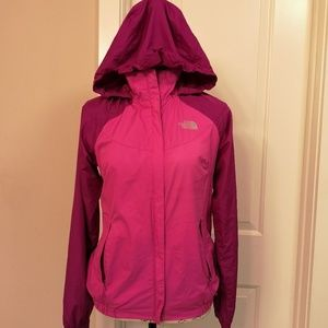 The North Face Pink Two Tone Hooded Windbreaker XS
